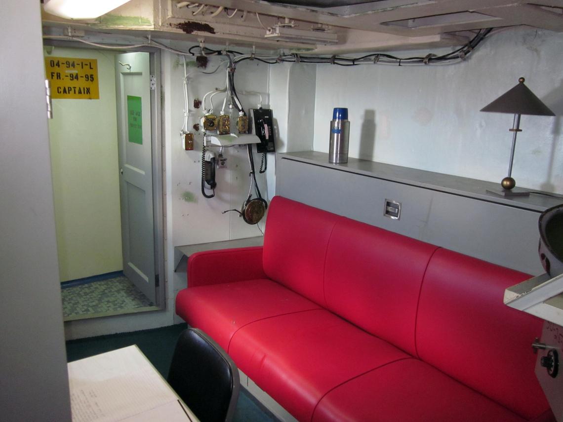 Uss missouri captain 39 s cabin for Captain s cabin